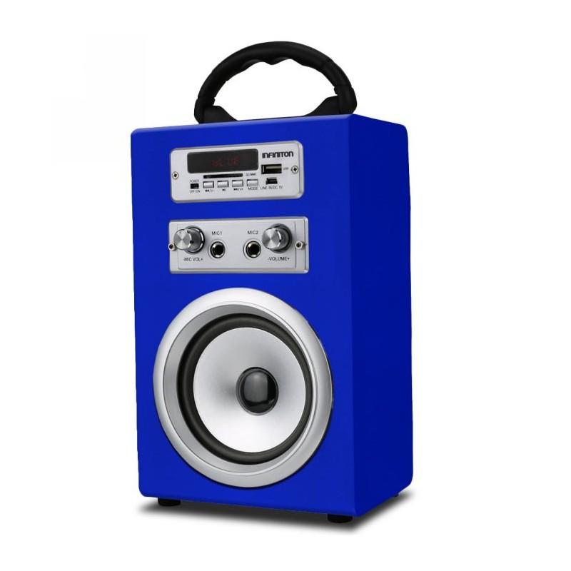 Altavoz Bluetooth K8 Azul+Micro