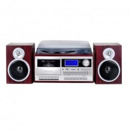 Giradiscos Trevi TT1070E Turntable+Radio+BT+Encoding Dark wood