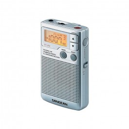 Radio Portátil Sangean DT250 Plata AM/FM